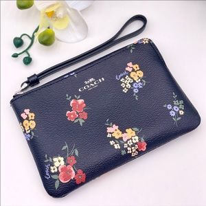 Coach Wild Flower Corner ZIP Wristlet Wallet